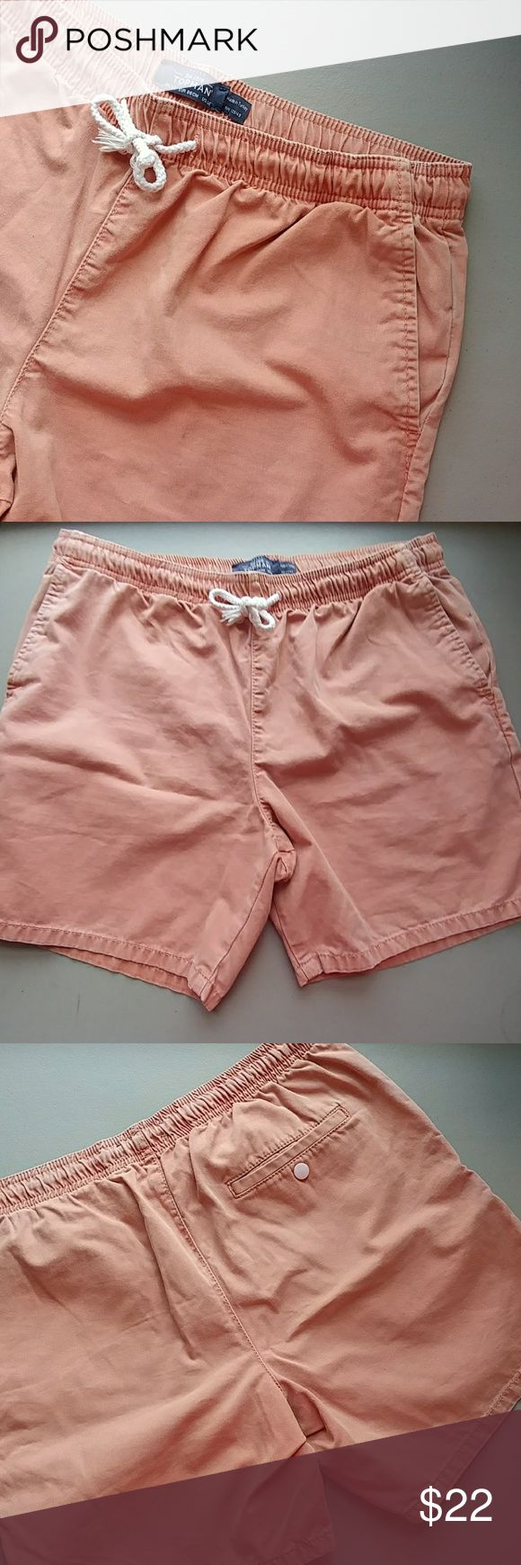 Men's TOPMAN SHORTS Elastic Waist size 34bwith drawstring tie Made to have a faded/worn look Topman Shorts