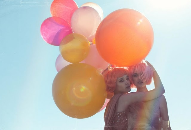 balloons: Cotton Candy, Color, Lara Jade, Neon Hair, Larajade, Balloon, Fashion Editorial, Photo Shoots, Materials Girls
