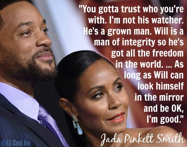 Jada Pinkett Smith on how she and her husband make things work (Quote)