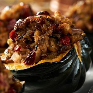Say it with us - YUM! @David Nilsson Venable QVC's recipe for Baked Stuffed Acorn Squash.