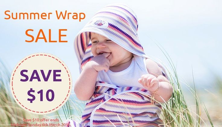 Get an amazing $10 off our Snug As A Bug® Summer Baby Wraps at rjsp.com.au now!