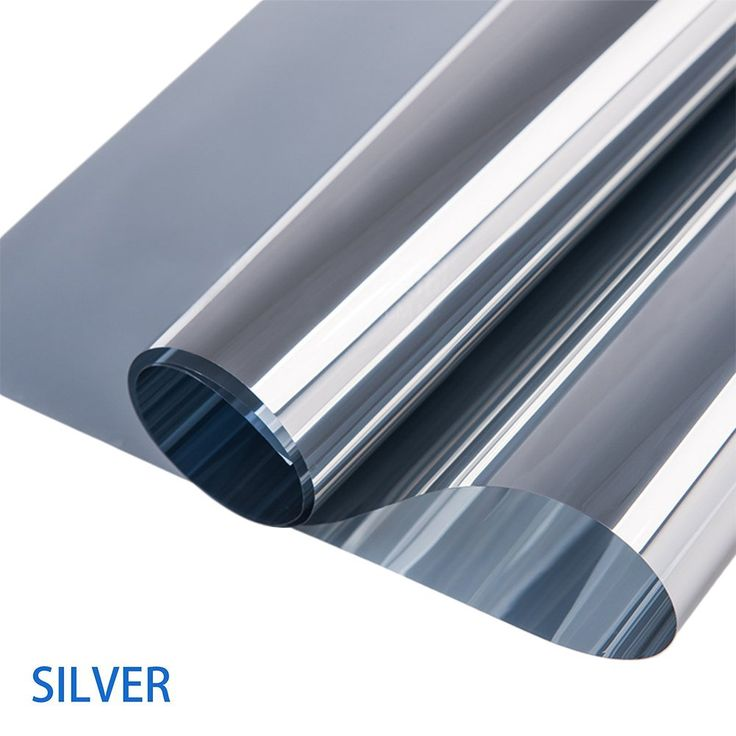 """Window Film Anti-UV One Way Mirror Film Heat Control Home Interiors Privacy Static Glass Films Non-Adhesive Window Cling Window Tint for Home and Office (Silver, 23.6""""×78.7"""")"""