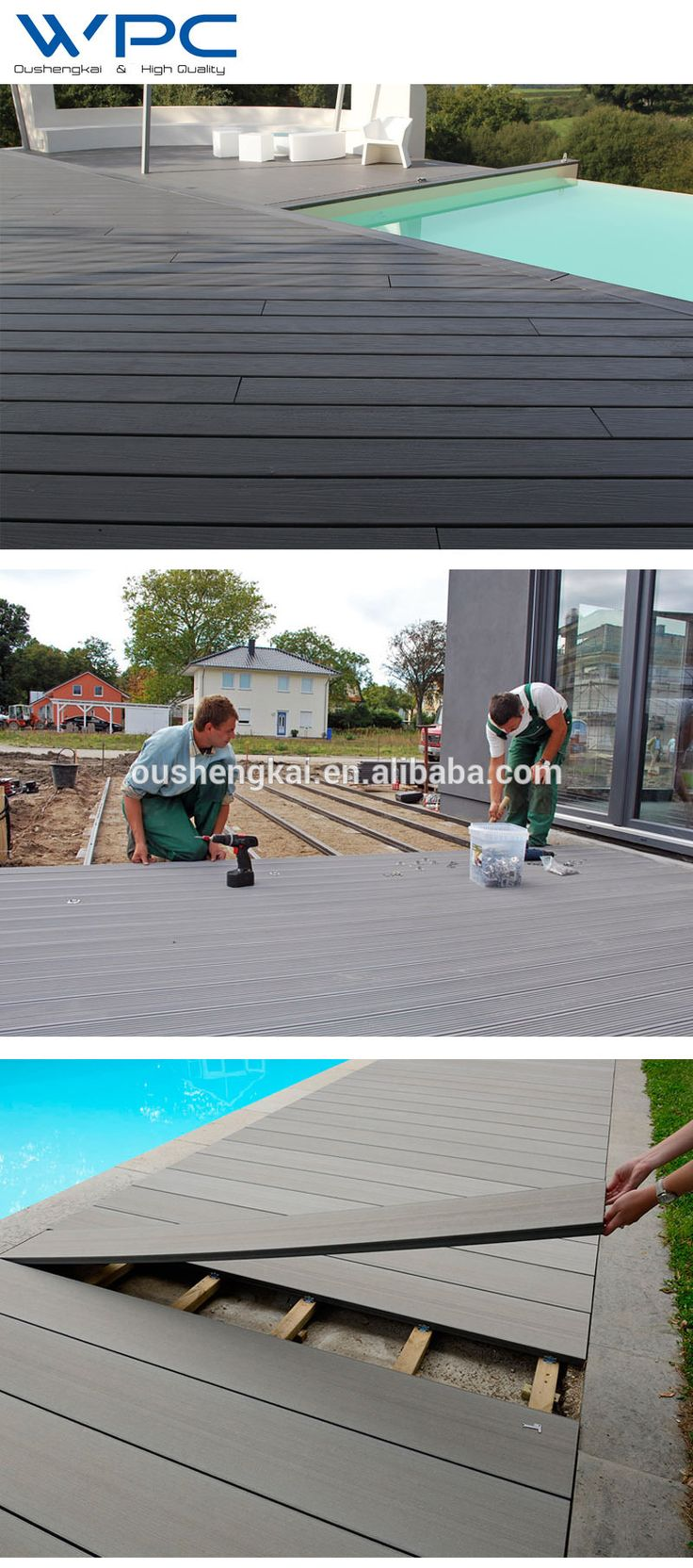 Cheap Price WPC Waterproof Outdoor Deck Flooring, View Deck Flooring, OUSHENGKAI / OEM Product Details from Haining Oushengkai Trade Co., Ltd. on Alibaba.com