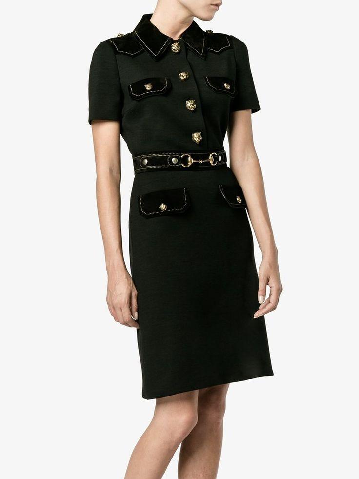 Gucci military-style shirt dress