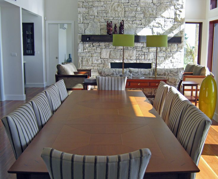 Dining and Living open plan space created by Rose and Heather NZ