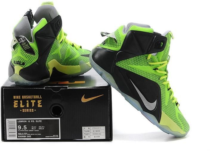 Lebron 12 Womens Fluorescent Green Black1 � Nike ...