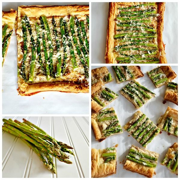 {asparagus + asiago tart} perfect appetizer for wine night.