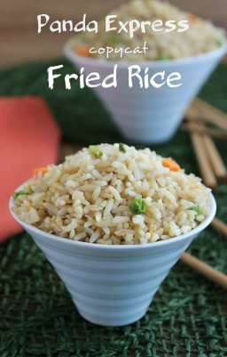 Panda Express has some good fast food and the base to almost all of them is Fried Rice. Fast and simple.