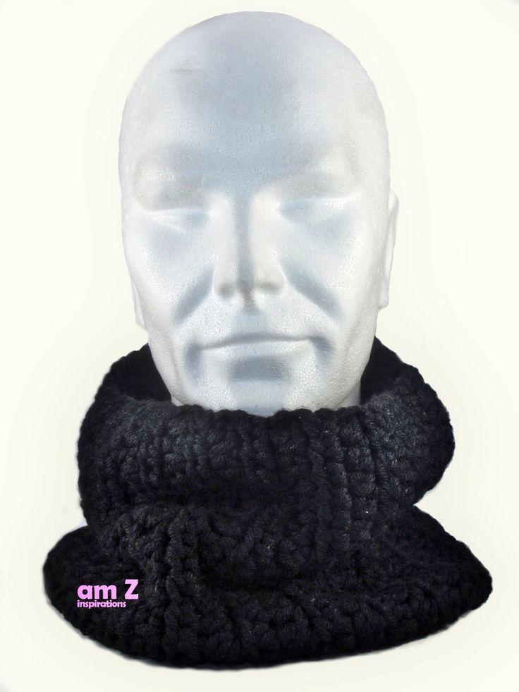 Crochet scarf with fleece, Crochet cowl, Chunky knit cowl, Chunky crochet scarves , Infinity loop , Crochet neck warmer, Turtle neck . by amZinspirations on Etsy https://www.etsy.com/listing/257618506/crochet-scarf-with-fleece-crochet-cowl