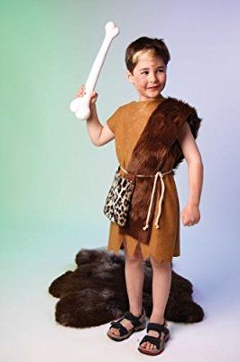 Stone Age Man costume for boys + girls. Size: 140/152