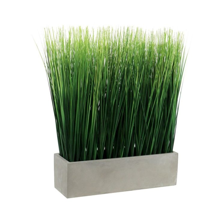Artificial Grass In Ceramic Pot