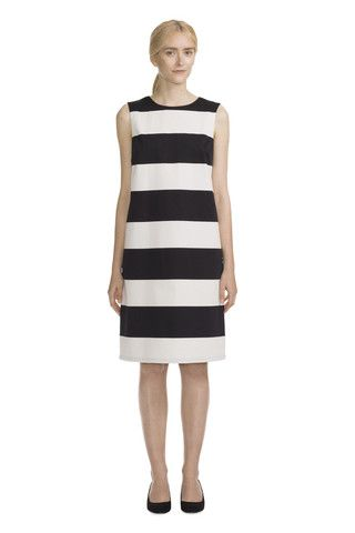 Louvre Dress White/Black
