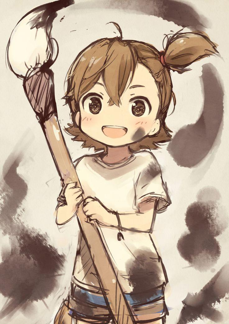 Barakamon ~~ Hope that ink washes out easily... :: Naru