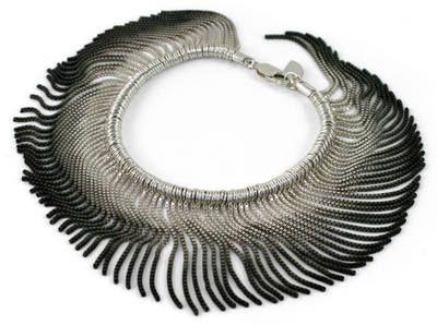 Vesper Interchangeable Full Swing Bracelet/Necklace #silver #contemporary #boutique #London  #designer #jewellery #handmade #NudeJewellery
