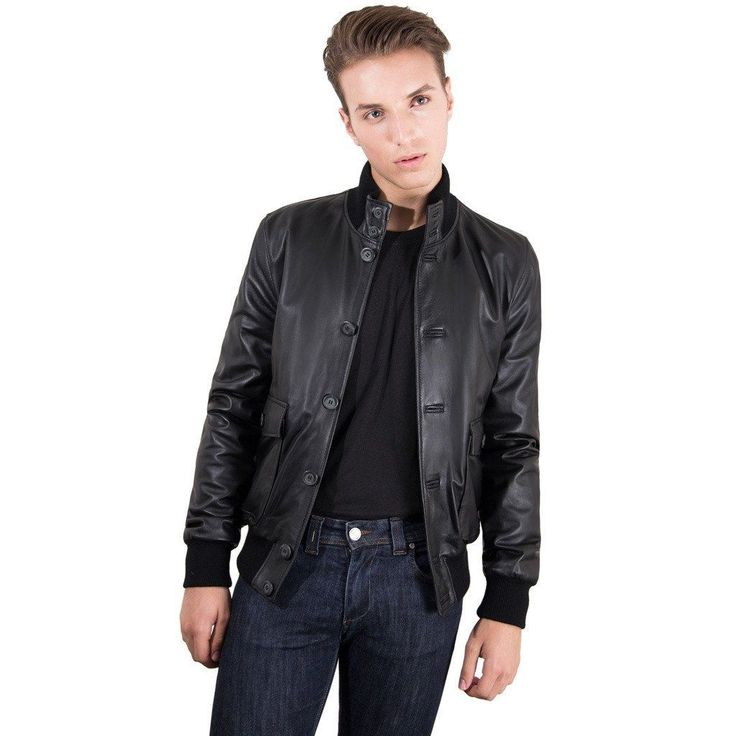 Men's Genuine Leather Bomber Jacket Black Color  #fashion #swag #style #stylish #socialenvy #PleaseForgiveMe #me #swagger #photooftheday #jacket #hair #pants #shirt #handsome #cool #polo #swagg #guy #boy #boys #man #model #tshirt #shoes #sneakers #styles #jeans #fresh #dope