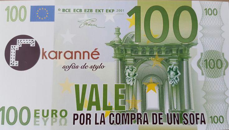 Por la compra de un #Sofá hasta finales del mes de Agosto te descontamos 100Euros en el precio final. No acumulable con otras promociones. #PromocionesKaranné