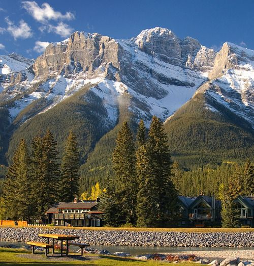 (via Table with a View, a photo from Alberta, Prairies | TrekEarth)  Canmore, Alberta, Canada