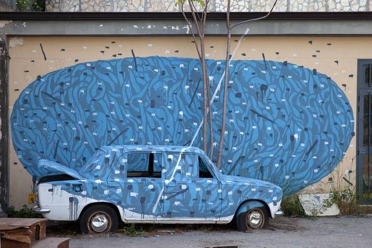 Amazing Abstract Street Art by Tellas – Fubiz Media