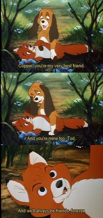 The Fox and the Hound and just cried a bit reading and remembering this my number one fave