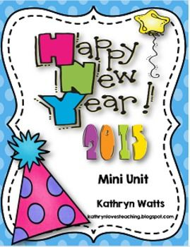 Updated for 2016  Enjoy a week long unit with Literacy and Math activities to start the New Year off right. Check out the preview for sample pages.  This Mini Unit includes the following: • My New Year's Resolution writing and craft • 2015 New Year Crown • My Goals for the New Year Bubble Map • My Goals for the New Year Writing paper • In the New year writing prompt • January writing prompt • My Winter break writing prompt • Happy New Year making words • New Year word search • Ne...
