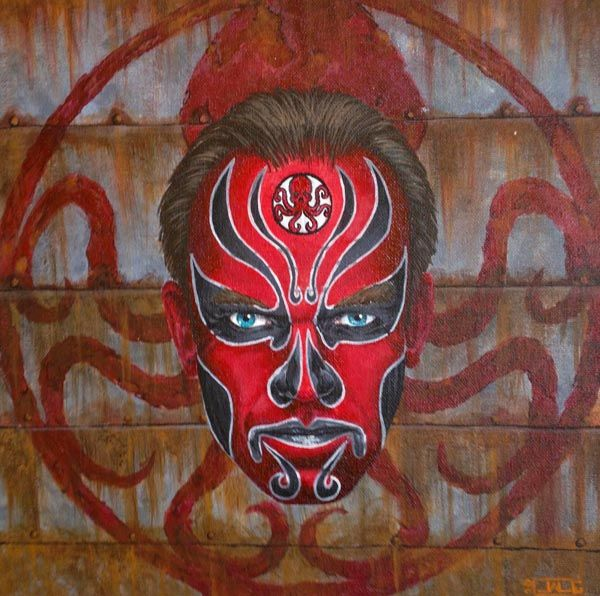 Chinese Make Up Heroes and Villians red skull Chinese Make Up Heroes & Villians
