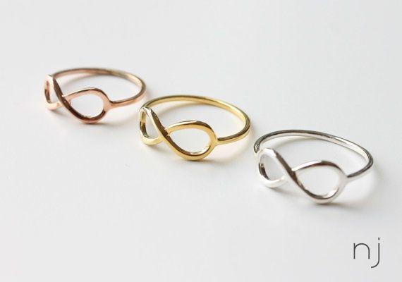 infinity Ring Rose Gold Filled 925 Sterling par Nurjeweldesign