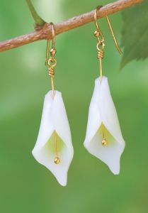 Shrink Plastic Calla Lily Earrings by Kathy Sheldon