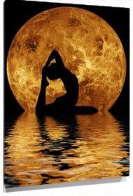 Cuadro yoga luna