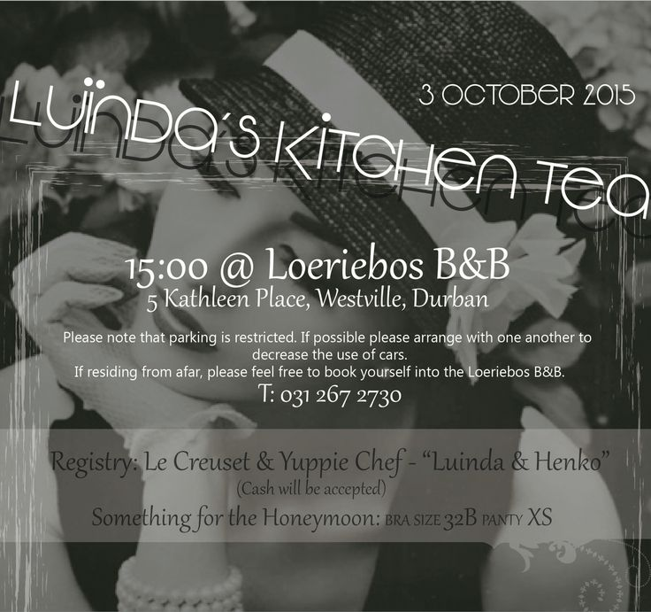 Designed this invite for my eldest sisters Kitchen Tea*
