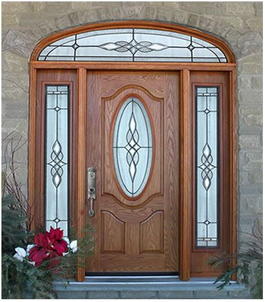 1000 ideas about entry door with sidelights on pinterest - Fiberglass exterior doors canada ...