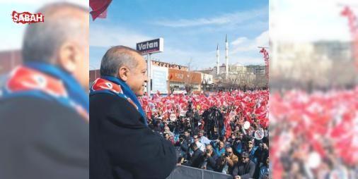 """2026 Kış Olimpiyatları'na adayız: Halka seslenen Cumhurbaşkanı, """"Erzurum'a Kış Olimpiyatları yakışır değil mi?"""" diye sorup, ekledi: """"Şöyle Erzincan ve Kars'ı da yanımıza alarak bu organizasyona aday olsak fena mı olur? 2026 için böyle..."""