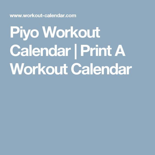 The 25+ best Piyo workout calendar ideas on Pinterest Piyo piyo - workout calendar