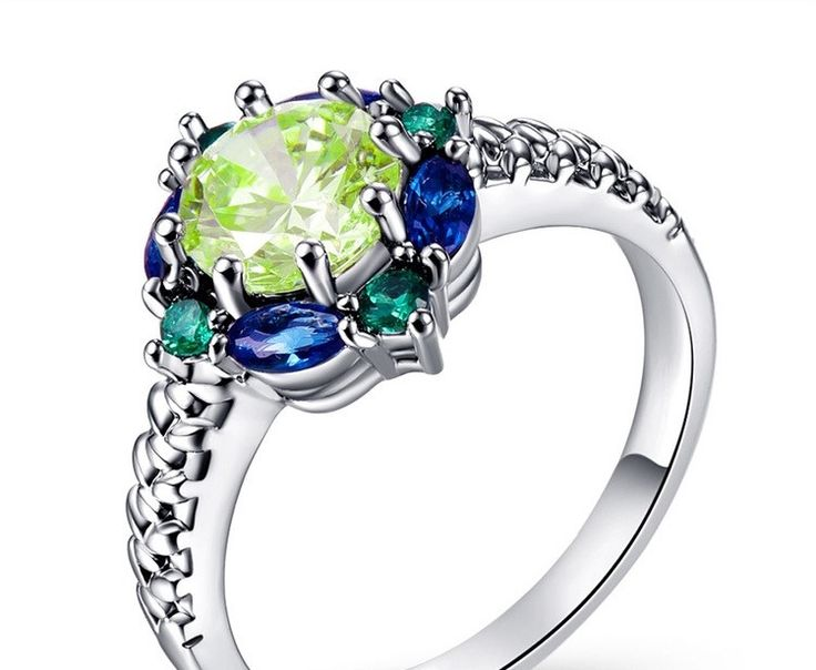 Gorgeous! Amethst Sapphire and Emerald Pretty Seahawk color ring