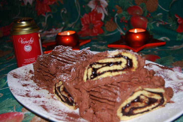 Tronchetto\Ceppo di Natale -Christmas Log #Christmas #desserts #Chocolate