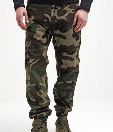 Carhartt WIP MARSHALL COLUMBIA Spodnie camo jogger moro męskie camo/green rinsed