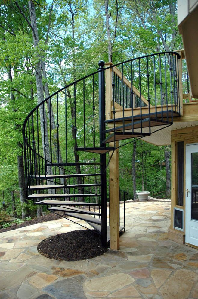 13 Spiral Staircase Design Ideas For Small Spaces Exterior   Exterior Spiral Staircase Cost   Spiral Stair Case   Deck   Handrail   Iron   Metal