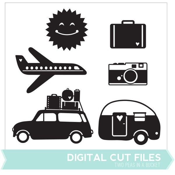 Summer Travel Cut Files by Two Peas - Two Peas in a Bucket $
