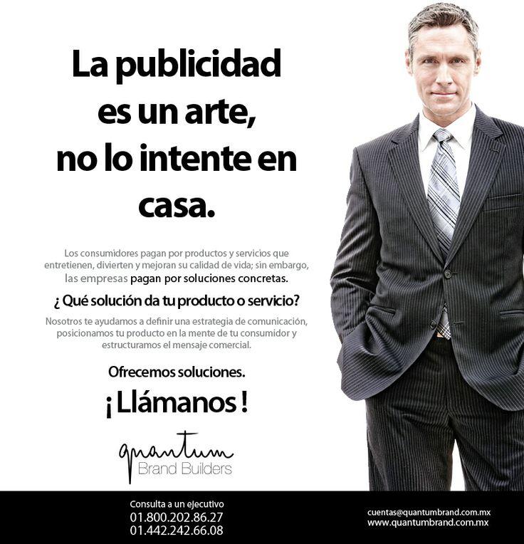 La publicidad es un arte, no lo intente en casa.
