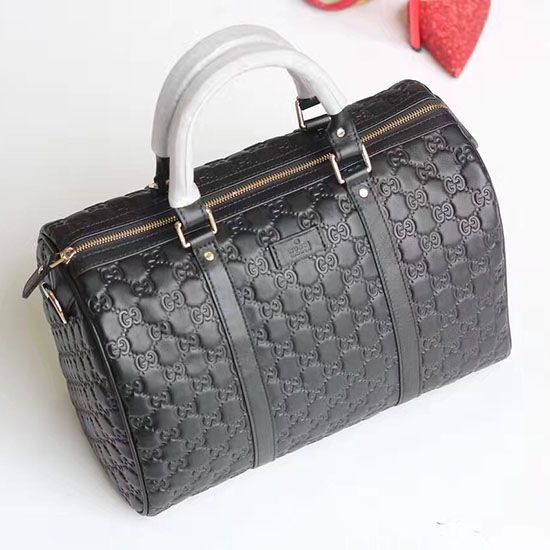 32f429e80a1c1 Gucci Signature Leather Boston Bag 449646