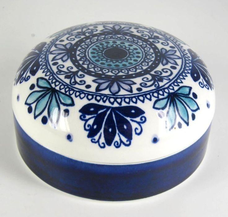 Arabia Keramik Dose Hilkka Liisa Ahola Design Finnland Pottery Box Finland
