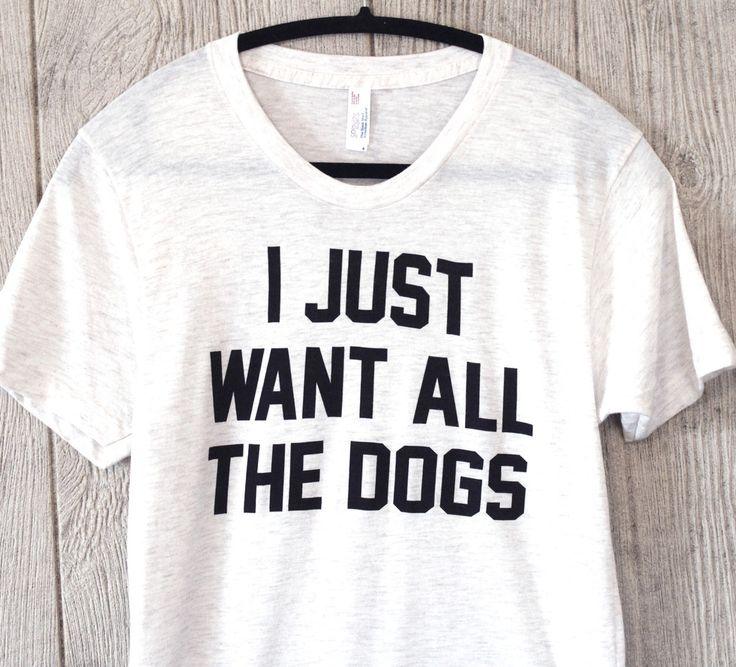 ALL THE DOGS- Tri-Blend Short Sleeve Shirt - Treat Dreams  - 3