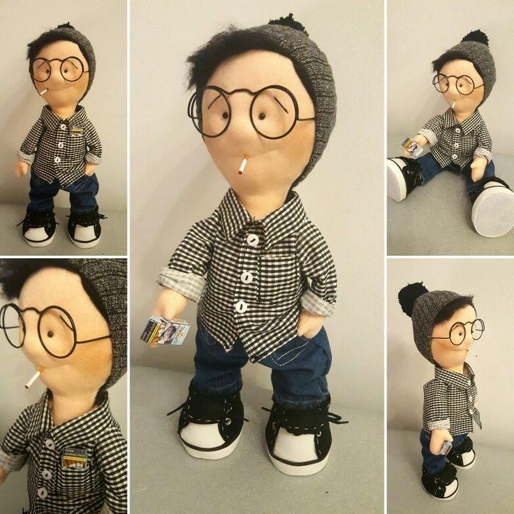 My handmade doll smoker  Charles 😂