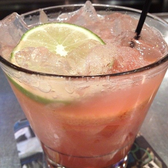 """Ruby X at the Yardhouse - the best drink ever - and it's a """"skinny"""" drink. Fresh ruby red grapefruit juice, 1800 silver tequila, x-rated fusion liqueur - yum."""