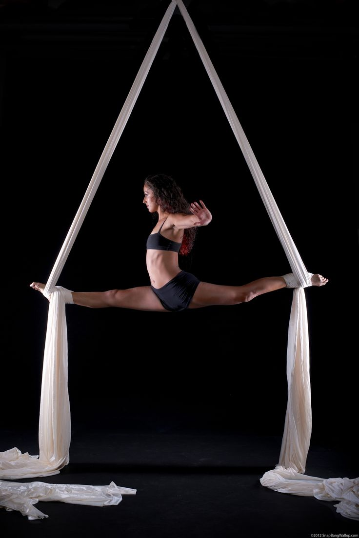 I took an aerial silks class. I did not look like this. Ha