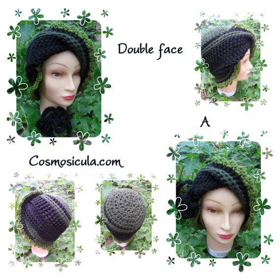Cappello double face con spilla. di Cosmosicula su Etsy, $45.00