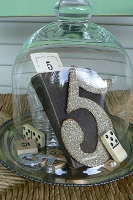 Sumo's Sweet Stuff: .:Tutorial Tuesday - Decorative Cloche...Kinda:. display anniversary or birthday numbers