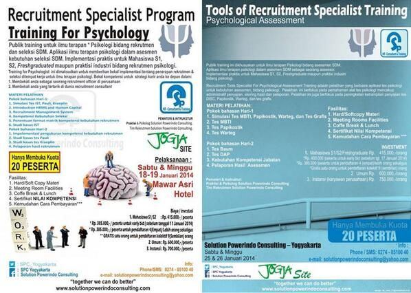 Training For Psychology (Recruitment Specialist)