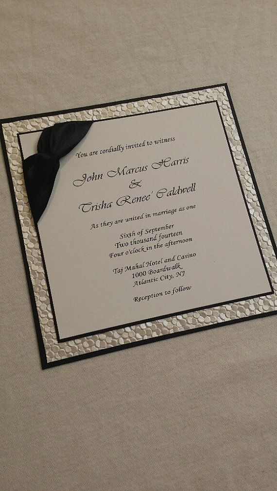 sample wedding invitation letter for uk visa%0A Embossed Wedding Invitation  Pebble Paper Wedding Invitation Sample Triple  Layered with Ribbon