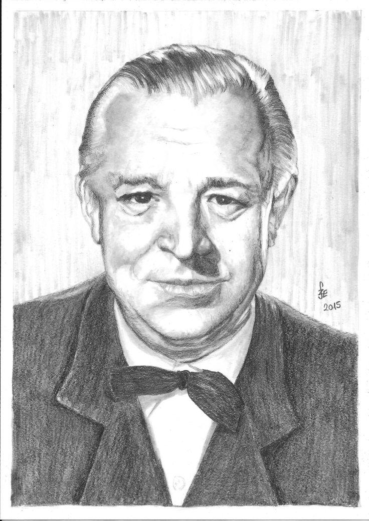 Pencil drawing portrait Csortos Gyula by Erika Székesvári https://www.facebook.com/ercziart/