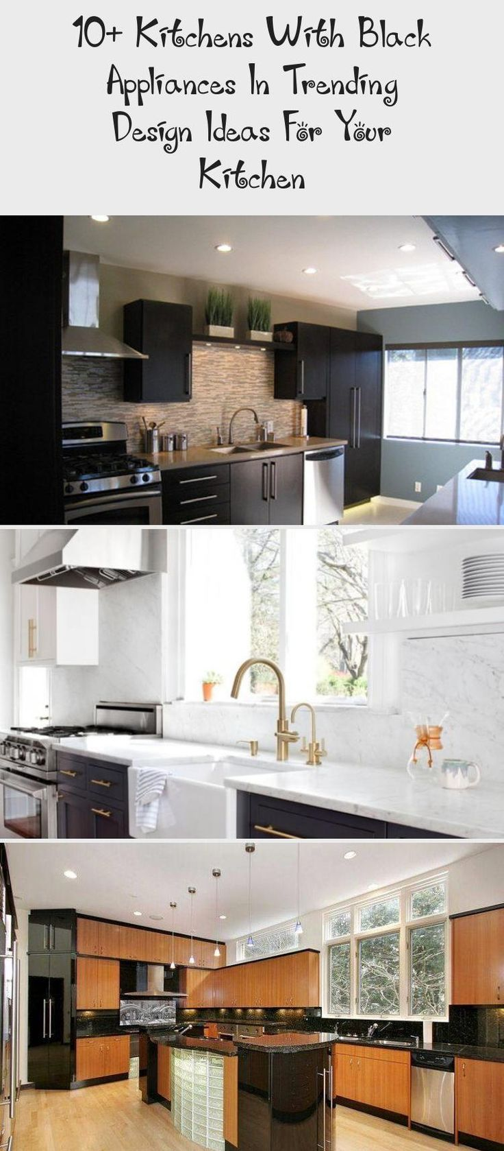 10+ Kitchens with Black Appliances in Trending Design